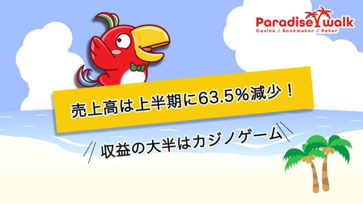 江原ランドの売上高は上半期に63.5%減少!収益の大半はカジノゲーム