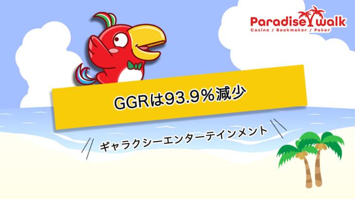 マカオの規制が続く中ギャラクシーエンターテインメントのGGRは93.9%減少
